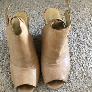 Open Toed Coach Leather Heels